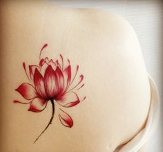 Colored Lotus Tattoo Stickers 4 Pieces
