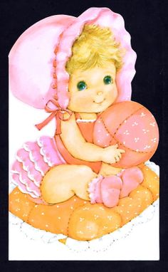 Unused New Baby Girl Greeting Card ~ (EO 18)