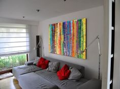 Buy Rainbow Large abstract acrylic painting 110x160 cm unstretched canvas 63 art original artwork by artist Ksavera, Acrylic painting by Ksavera on Artfinder. Discover thousands of other original paintings, prints, sculptures and photography from independent artists.