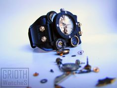 Steampunk, custom and industial watch by GRIOTH