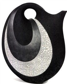 *Rick Rudd New Zealand. raku.the master of incredible functional teapots