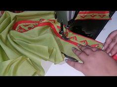 Beads और Fabric से बनाए खूबसूरत Neck Design(Cutting and Stitching in Hindi) Chudidhar Neck Designs, Salwar Neck Designs, Dress Neck Designs, Kurta Designs Women, Blouse Designs, Mirror Blouse Design, Salwar Pattern, Kurti Patterns, Baby Girl Dress Design