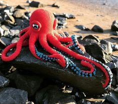 Octopus Crochet Pattern Free, Crochet Fish, Crochet Eyes, Crochet Octopus, Crochet Amigurumi Free Patterns, Crochet Fabric, Crochet Animal Patterns, Macrame Patterns, Free Crochet