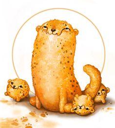Cheeto Cheetahs by AnnPars.deviantart.com on @DeviantArt