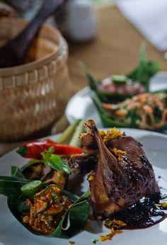Try the signature Balinese Bebek Lada Hitam, or duck with black pepper, at Abangan Restaurant in Puri Sunia Resort, Bali #Indistay   Bali, Indonesia