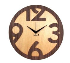 wood kitchen clock | ... > Clocks > Panache Pan210 Wood 4 Digit Wall Clock Wall Clock (brown