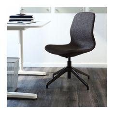 LÅNGFJÄLL Arbeidsstol - Gunnared mørk grå, svart - IKEA