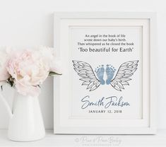 Baby Memorial Tattoos, Child Loss, Footprint Art, Baby Footprints, Infant Loss, Baby Memories, Memorial Gifts, Memorial Ideas, Sympathy Gifts
