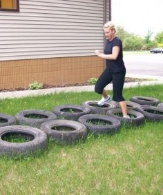 Outdoor Obstacle Course - Tire Run