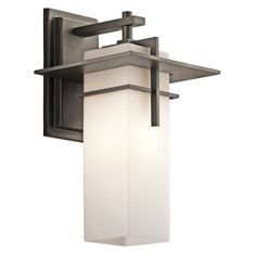"Kichler 49643 Caterham Collection 1 Light 15"" Outdoor Wall Light Olde Bronze Outdoor Lighting Wall Sconces NULL"