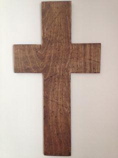 Rustic Distressed Wooden Cross