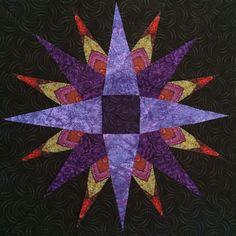 Jinny Beyer Solstice Quilt Block 3 Star Blocks, Quilt Blocks, Quilting Ideas, Quilting Projects, Crazy Block, Foundation Paper Piecing, Quilt Art, Star Quilts, Pattern Blocks