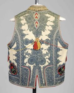 Vest_details. Date: fourth quarter 19th century Culture: Hungarian Medium: Wool, silk, cotton