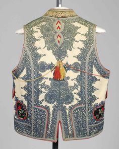 Vest_details. Date: fourth quarter 19th century Culture: Hungarian Medium: Wool, silk, cotton