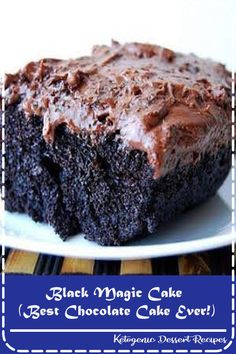 It's true. This is one of the best chocolate cakes we have ever made! Simple and straightforward, this is one of those recipes that everyone will love. (Be sure to have plenty o' milk on hand. Chocolate Cake Recipe Without Buttermilk, Gluten Free Chocolate Cake, Chocolate Cake Recipe Easy, Best Chocolate Cake, Homemade Chocolate, Chocolate Recipes, Chocolate Cake With Coffee, Chocolate Cheesecake, Chocolate Truffles