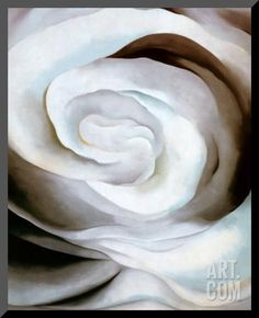 Abstraction White Rose, 1927 Mounted Print by Georgia O'Keeffe at Art.com