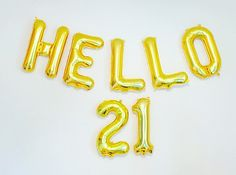 HELLO 21 Balloons 21st Birthday 21st 21 Number by girlygifts07