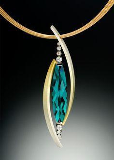 Tango Pendant with Tourmaline | Adam Neeley Fine Art Jewelry