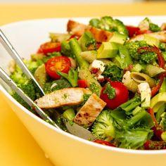 Pasta Salad, Cobb Salad, Garam Masala, Pesto, Food And Drink, Ethnic Recipes, Red Peppers, Crab Pasta Salad