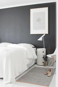 peinture lavable murale pour la chambre à coucher avec intérieur gris blanc