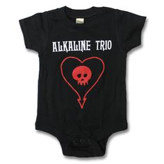 Alkaline Trio - Heart Skull Onesie  Our kid is totally going to rock this!