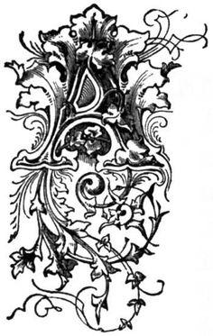 Grandma's Graphics: Decorative / Ornamental Letters