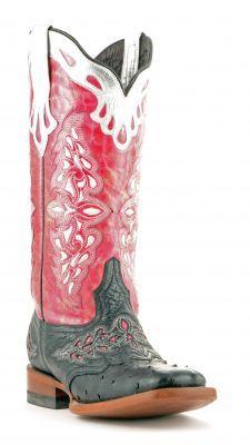 Womens Lucchese Ostrich Boots Black #M5800 via @Chris Allen sutton Boots