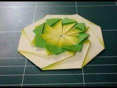 183.종이접기,오월의장미.origami.컵받침접기.***
