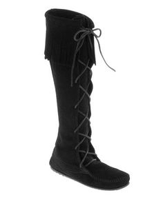 Luv all Minnetonka but my fav boot is the...  Front Laced Hard Sole Knee Hi Boot (Women's)