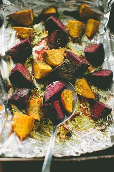 Zaatar Roasted Beets with Honeyed Yogurt, Orange + Pistachio  // A Thought For Food