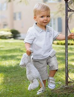Baby boy polo shirt and shorts outfit