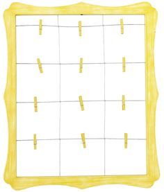 yellow scalloped window clip frame - Window Clip Frame
