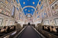 """The Scrovegni Chapel – Padua, Italy - """"My suggestion to all other Italian companies is to echo iGuzzini"""" commented Dario Franceschini, the Italian Minister of Cultural Heritage and Activities and Tourism after visiting the Scrovegni Chapel. """"When a company does something similar to what iGuzzini did with this project, I can only be grateful"""" - #iGuzzini #Lighting #Light #Luce #Lumière #Licht #Giotto #Scrovegni #Padova #Padua #Franceschini #DarioFranceschini #Palco #LaserBlade…"""