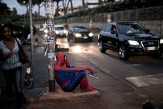 Superheroes And Cartoon Characters Living In The Real World