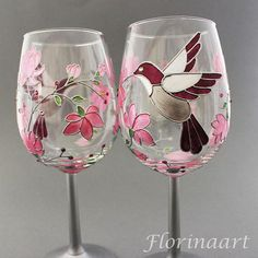Wedding anniversary glasses Butterfly wine glasses Butterfly t