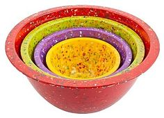 Indestructible Love - Confetti Bowls by Zak!...made of melamine and awesome if you have a young one.