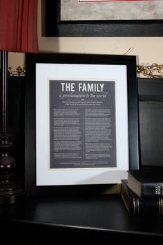 Modern LDS The Family: A Proclamation to the World.