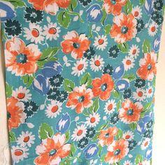 Vintage American Feedsack Fabric  Summer Blooms by gwensvintage