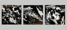 Acrylmalerei - Originale abstrakte Malerei, Kunst, Bilder 3er Set - ein Designerstück von BrigitteKoenig bei DaWanda