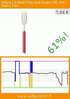 Villeroy & Boch Play Red Roses 155 mm Pastry Fork (Cuisine). Réduction de 61%! Prix actuel 7,05 €, l'ancien prix était de 18,10 €. https://www.adquisitio.fr/villeroy-boch/play-red-roses-155-mm