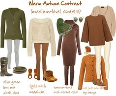 """Warm Autumn Contrast"" by jeaninebyers ❤ liked on Polyvore"