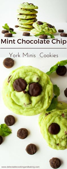 Deliciously minty and loaded with chocolate, these Mint Chocolate Chip York Mini Mint Patty Cookies are absolutely perfect! They're packed with just the right amount of chocolate and mint, combining to make the best minty goodness ever in cookie form!