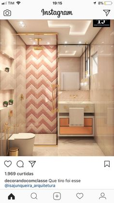 53 Bathroom Design Tips Trending This Year - Home Decor HD New Interior Design, Bathroom Interior Design, Home Design, Bad Inspiration, Bathroom Inspiration, Bathroom Ideas, Bathroom Pink, Wc Decoration, Bathroom Design Small