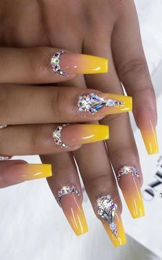 50 best ombre nails art designs ideas and pictures for 2019 part 1 - nails - nai. - 50 best ombre nails art designs ideas and pictures for 2019 part 1 - nails - nailideastrends - - Ombre Nail Designs, Nail Designs Spring, Nail Crystal Designs, Best Nail Designs, Acrylic Nail Designs Glitter, Toenail Art Designs, Bling Nails, Glitter Nails, Nail Ideas
