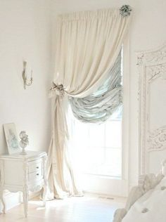Shabby Glam Bedroom Dressed in Ivory with a Touch of Turquoise. Shabby Glam Bedroom Dressed in Ivory with a Touch of Turquoise. Glam Bedroom, Shabby Chic Bedrooms, Shabby Chic Homes, Trendy Bedroom, Shabby Chic Style, Home Decor Bedroom, Shabby Chic Decor, Diy Home Decor, Bedroom Ideas