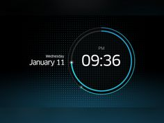 Alarm Clock UI designed by Andreas Frank. Interface Design, User Interface, Mobile Design, App Design, Countdown Clock, Car Ui, Ui Design Inspiration, Dashboard Design, Ui Elements