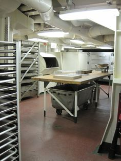 USS Hornet Museum's Bakery display on the third deck.