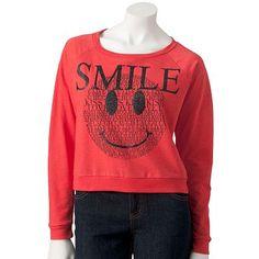 Jerry Leigh Smile Crop Sweatshirt, kohls $7.20