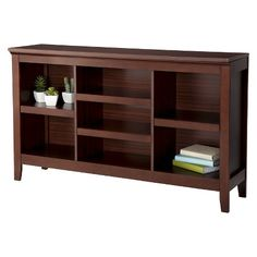 Carson Horizontal Bookcase with Adjustable Shelves - Espresso - Threshold™ : Target
