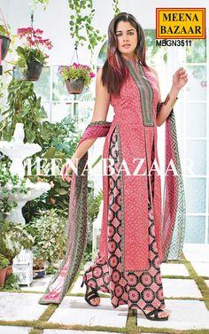 Pink Cotton Palazzo Suit - Salwar Kameez